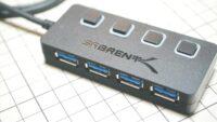 Sabrent USB 3.0 ブルーLEDハブを購入 個別スイッチ付き HB-UM43-JP