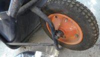 一輪車にノーパンクタイヤを付けてみた!