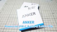 Anker PowerLine USB-C & USB-A 3.0ケーブル (AK-A8163021)を購入!