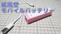 威風堂 S-BANK スーパーバッテリー 2200mAh (ホワイト) [IFD-216]