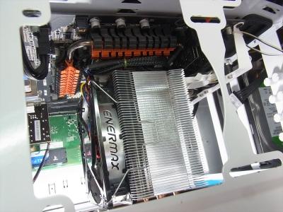 nzxt h440 メモリー クーラー CPU ENERMAX ETS-T40-TB Core i7 2600K Quadro 2000 BIOSTAR TZ77XE4 排気 向き
