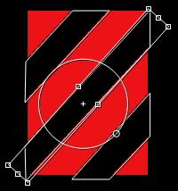 斜線模様の部分
