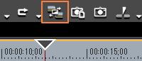 トランジション/クロスフェードに合わせてクリップを伸縮する/伸縮しない