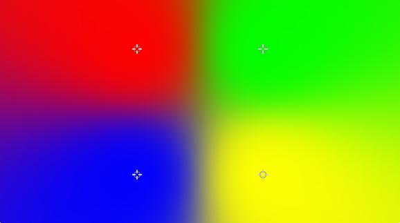hitfilmの使い方  4色グラデーション [4-Point Color Gradient]