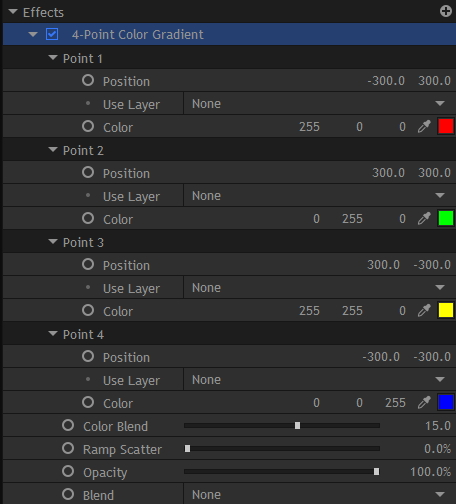 4色グラデーション [4-Point Color Gradient]